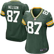 Womens Nike Green Bay Packers Jordy Nelson Game Team Color Jersey