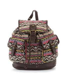 null (Multi Col) Aztec Patterned Back Pack  245425199  New Look