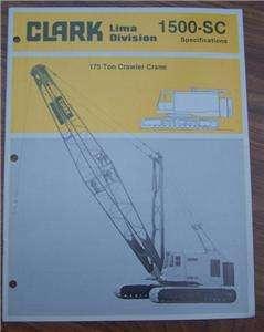 Clark 1500 SC 175 ton Crawler Crane Brochure