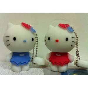 New Style 4GB Cute Blue Hello Kitty USB Flash Drive
