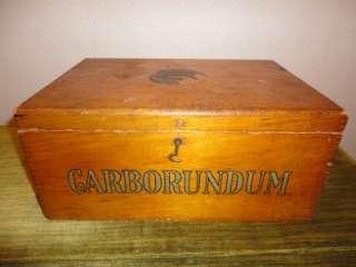 Antique Carborundum Niagra Falls Sharpening Stones Oak Store Display