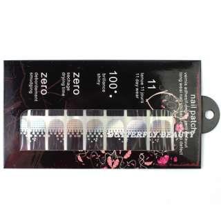 16pcs Nail Art Sticker Colorful Patch Foils Armour Manicure Decoration