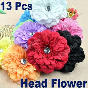 13pcs Baby GIRL Lady Crystal Peony Head Flower Hair Clip Bow