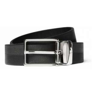 Maison Martin Margiela Reversible Herringbone Embossed Leather Belt