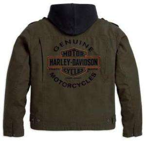 Harley Davidson Herren 3in1 Jacke Road Warrior Olive