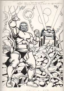 Eduardo Baretto Original KIRBY DARKSEID Art SUPERPOWER