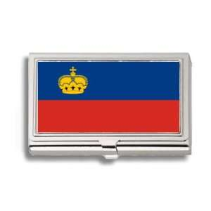 Liechtenstein Flag Business Card Holder Metal Case Office