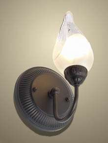 Light Wall sconce floral glass shade bronze 12571 OB8