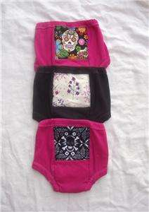Toddler Rockabilly Punk Potty Training Pants Black Pink Sugar Skulls