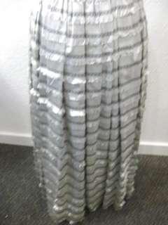 vtg 50s Lucille Ball Silver Taffeta Black Velvet Gown
