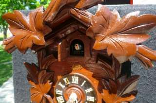 Antique Schatz Black Forest 8 Day German Cuckoo Clock Serviced Runs
