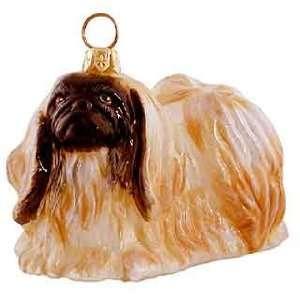 Blown Glass Pekingese Ornament