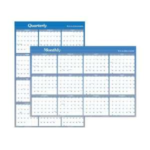 com Visual Organizer Vertical/Horizontal Yearly Erasable Wall Planner