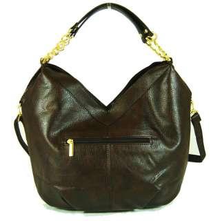 Brown Leather Hobo Satchel Tote Shoulder Handbag purse