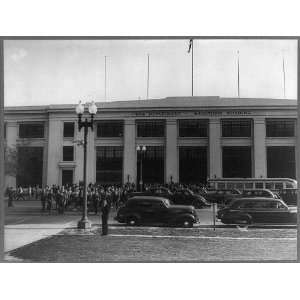 employees leaving,cars,Munitions Building,Washington DC,c1941 Home