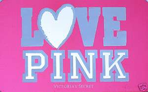 VICTORIAS SECRET Gift Card Love Pink COLLECTIBLE NO VALUE