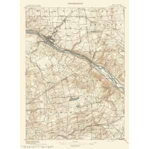USGS TOPO MAP AMSTERDAM NEW YORK (NY) 1895 Home & Kitchen