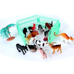 14pcs Plastic Farm Animals Toy Model Toys & Games