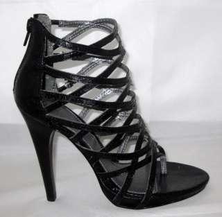 Mia Wild Thing Womens Black Strappy Sandal SHOE HEEL