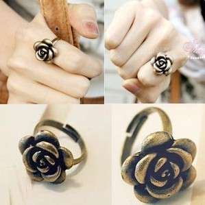 Korean Style Bronze Ring Antique Rose Ring