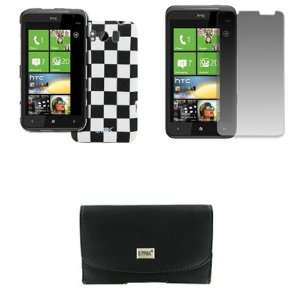 EMPIRE HTC Titan Black Leather Case Pouch with Belt Clip