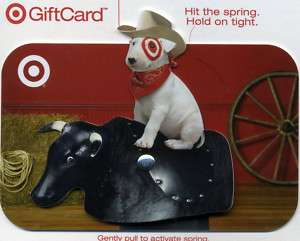 MECHANICAL BULL 3D TARGET PIT BULL COWBOY GIFT CARD