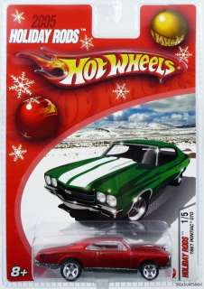 HOT WHEELS 2005 HOLIDAY RODS RED 67 PONTIAC GTO #J5407 027084256857