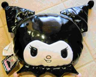 SANRIO ~HELLO KITTY~ KUROMI PLUSH VINYL PILLOW HEAD
