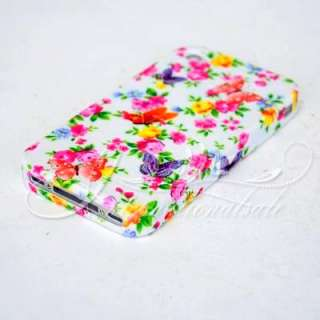 Floral and Butterfly design TPU Case For Iphone 4G