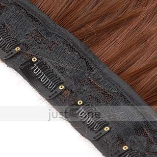 Stylish Long Straight Onepiece Clip in Hair Extensions Hairpiece Wigs