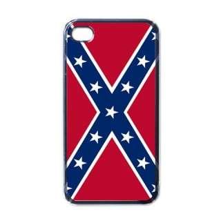 Confederate Flag Black Case for iphone 4 Confederacy
