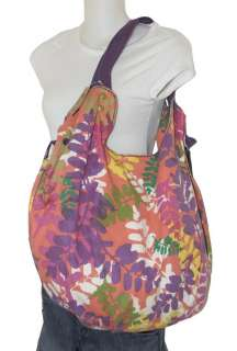 NEW LUCKY BRAND JEANS CANVAS EXTRA LARGE TOTE HOBO FLOWER SHOPPER BAG