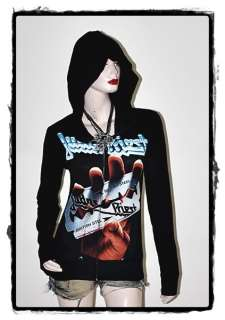 Judas Priest Metal Punk Rock DIY Slim Fit Hoodie Top
