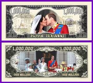 Royal Wedding Play Money Fake Novelty Dollar Bill
