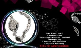 New Ladies Jewelry Stainless Steel Quartz Watch Women Girl Analog