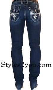 Rock Revival Tori Straight Leg True Blue Denim Jean