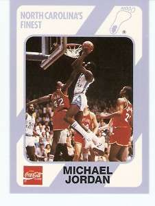 1989 Michael Jordan North Carolina Tar Heels card #13