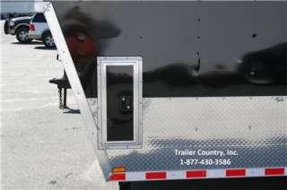 32 8.5X32 ENCLOSED GOOSENECK CARGO CAR HAULER TRAILER V NOSE