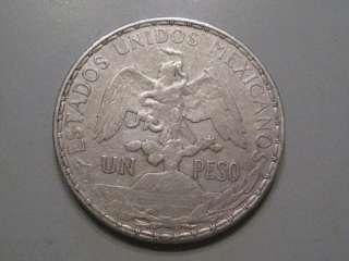 1910 Peso. Mexico. Silver Caballito Mexican Coin.