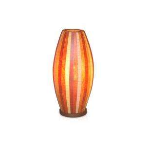 Jeffan Sedona 21 In. Brown, Orange, Red Multicolor Mosaic Table Lamp