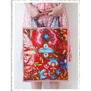 Tasche PiP Studio Shoppingbag Embroidery rot  Küche