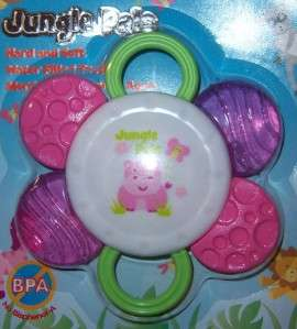 PALS HARD & SOFT WATER TEETHER, Lion, Zebra, Hippo, Baby Shower, Cake