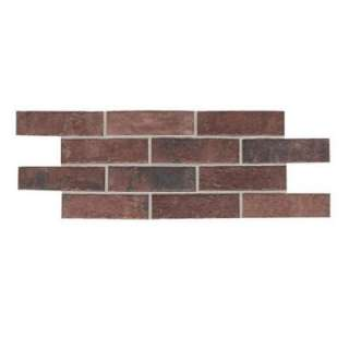 Square 2 in. x 8 in. Courtyard Red Ceramic Paver Floor and Wall Tile
