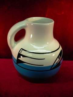 POTTERY ART JUG Vase NATIVE AMERICAN Indian HAND MADE Tribal Artist