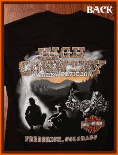 Motorcycles High Country Frederick, CO Logo Black Small T Shirt