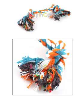 Dog Puppy Pet Cotton Braided Bone Rope Chew Knot Toy