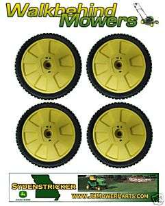 JOHN DEERE 14PZ MOWER   SET OF FOUR WHEELS   AM115138