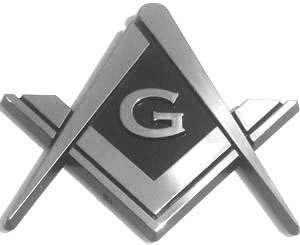 Masonic Square Compass Car Emblem