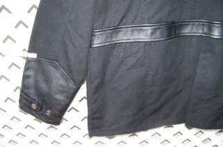 HARLEY DAVIDSON M 3N1 BLACK JACKET HEAVY TWILL/LEATHER TRIM REMOVE