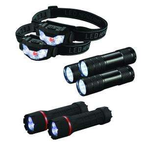 CE Tech LED Flashlight and Headlamp 7 Pack HD11OTB49C at The Home